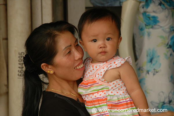 Chinese Mother and Baby - Xishuangbanna, China
