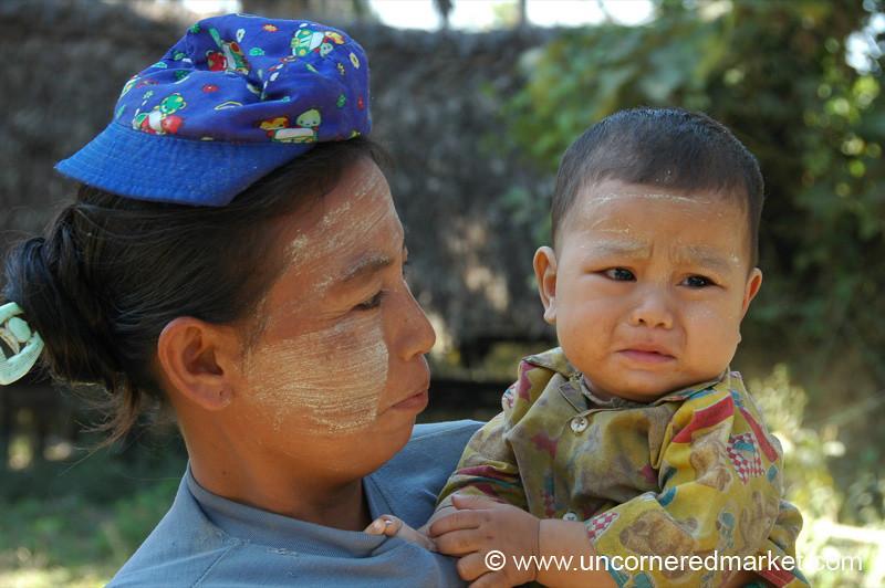 Crying Burmese Baby - Toungoo, Burma