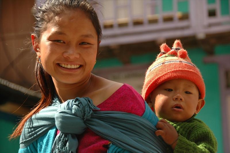 Adoring Mother and Son - Annapurna Circuit, Nepal