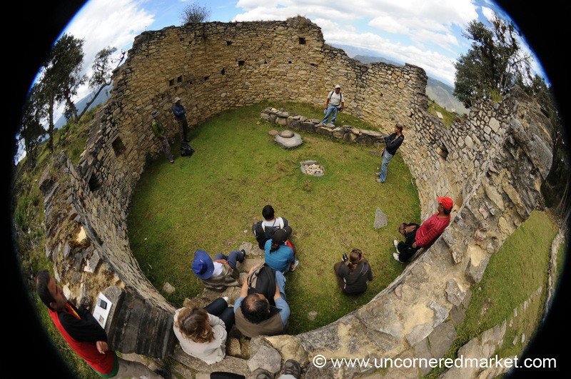 Fish-Eye View of a House at Kuelap - Near Chachapoyas, Peru
