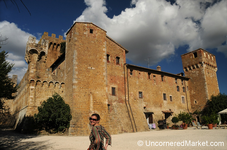 Audrey Checks Out Spedaletto Castle - Val d'Orcia, Tuscany