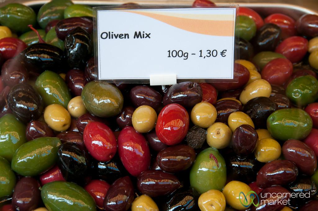 A Colorful Mix of Olives - Naschmarkt (Vienna, Austria)
