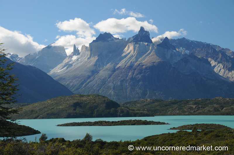 Turquoise Lake Pehoe - Torres del Paine, Chile