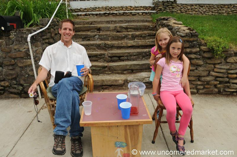 Modern Day Lemonade Stand in Black Mountain, North Carolina