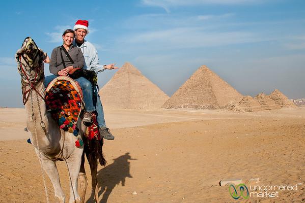 Christmas Cheer and Camel Rides - Giza Pyramids, Egypt