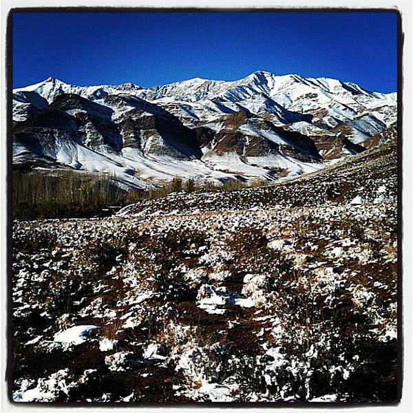 Iranian snowy mountain wonderland. Abyaneh, Iran. #wir #gadv #dna2iran