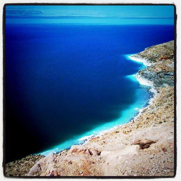 First sight of dead sea, Jordan
