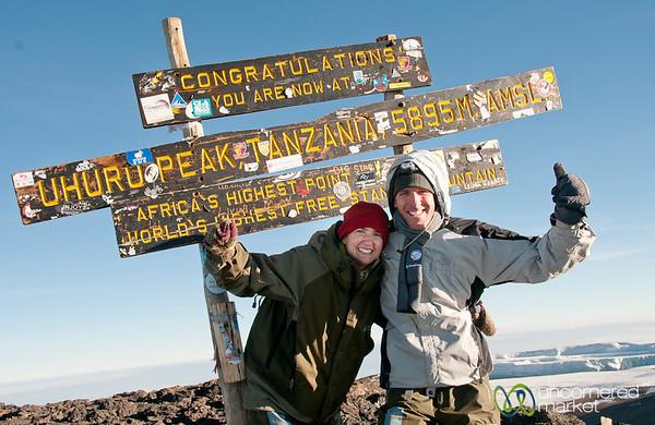Made it to Uhuru Peak at the top of Mt. Kilimanjaro - Tanzania