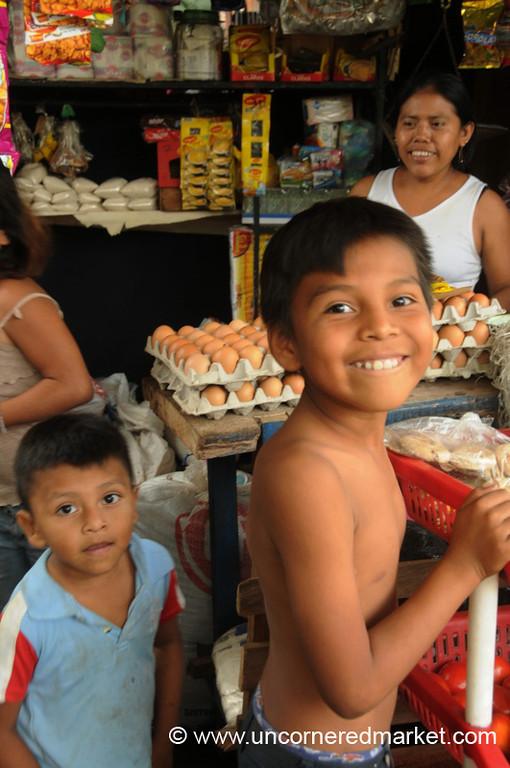 Kids Go Shopping - Masaya, Nicaragua