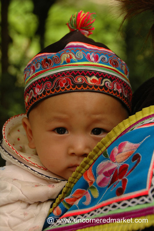 Hani Baby in Traditional Dress - Yuanyang, China
