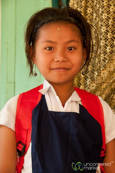 Khashia School Girl - Outside Srimongal, Bangladesh