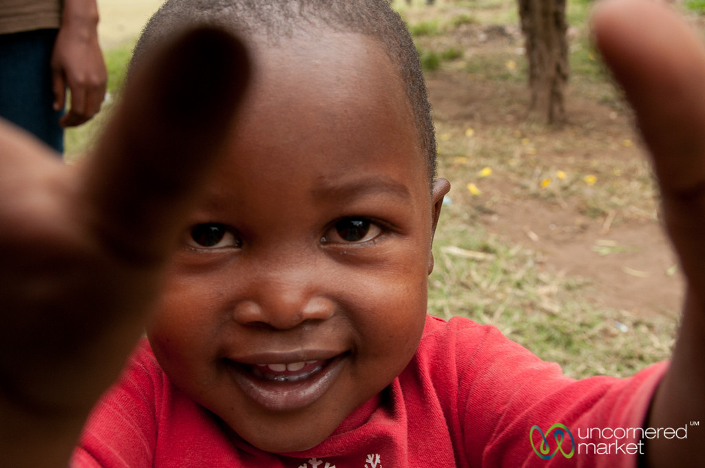 Young Kid Grabs Camera - Mto wa Mbu, Tanzania