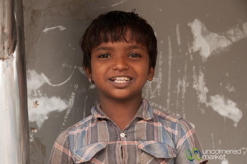 Indian Boy Near Dadar Market - Mumbai, India