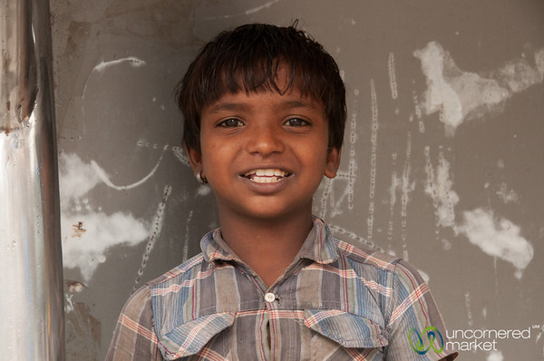 Indian Boy Near Dadar Market - Mumbai, India