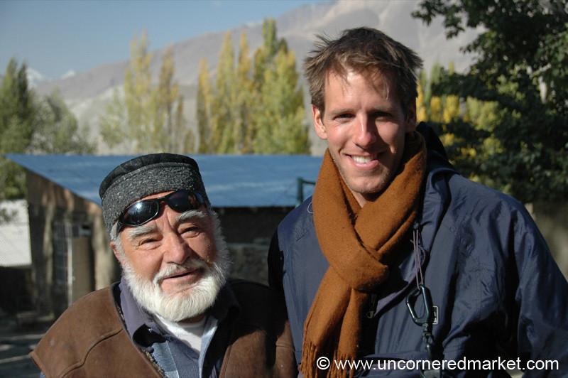 Dan and Pamiri Old Man - Ishkashim, Tajikistan