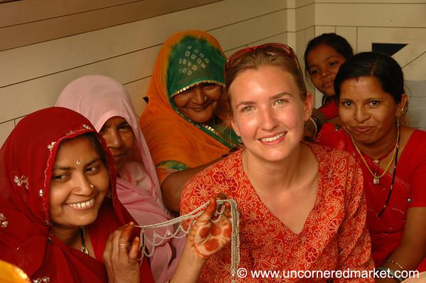 Indian Women Buying Wedding Jewelry - Rajasthan, India