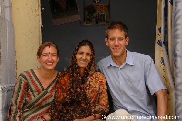 Audrey, Dan and Shashi, Cooking Class - Rajasthan, India