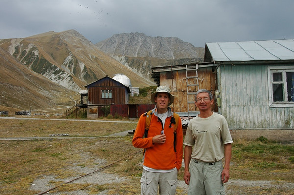 Dan with Astronomer at Tian Shan Observatory - Almaty, Kazakhstan