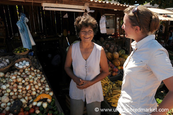 Audrey Chats With a Fruit Vendor - Concepcion, Paraguay