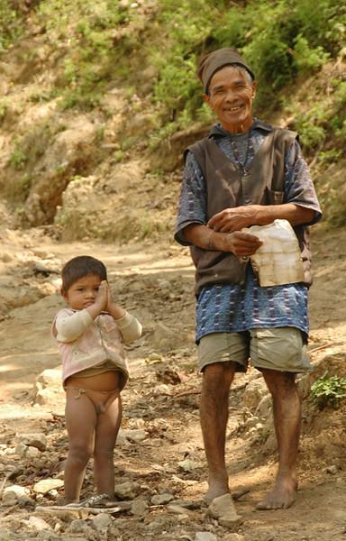 Namaste, Grandfather and Grandson - Annapurna Circuit, Nepal