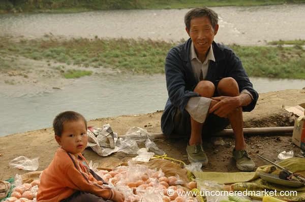 Father and Son in Chong'an - Guizhou Province, China
