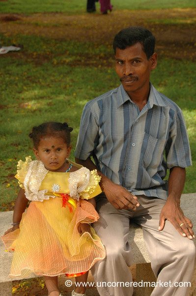 Father and Daughter - Pondicherry, India