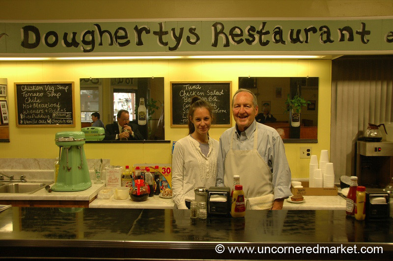 Father and Daughter at Dougherty's Restaurant - Scranton, Pennsylvania