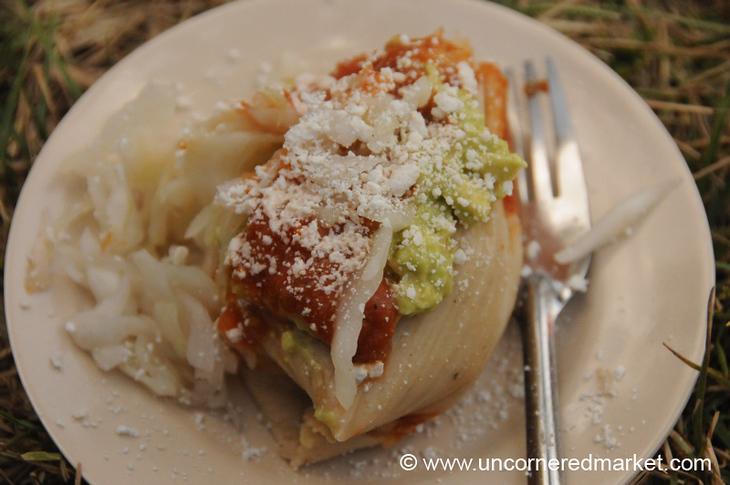 Guatemalan Food, Chuchito - Antigua, Guatemala