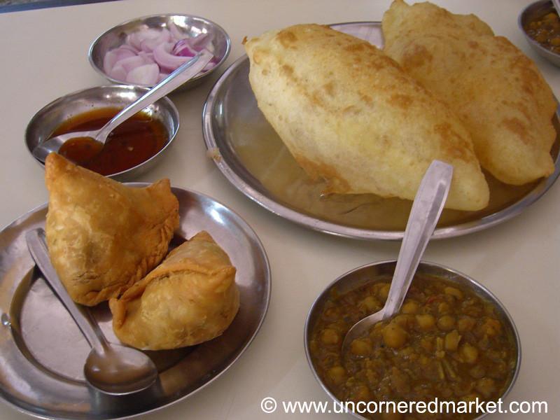 Samosas and Chole Batura - Chandigarh, India