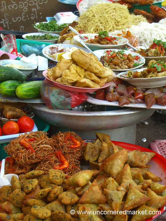 Burmese Food, Street Foods - Rangoon, Burma (Yangon, Myanmar)