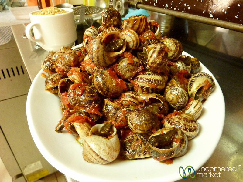 Traditional Cretan Meal of Snails