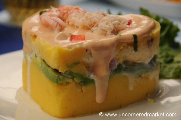 Causa with Shrimp and Crab - Lima, Peru
