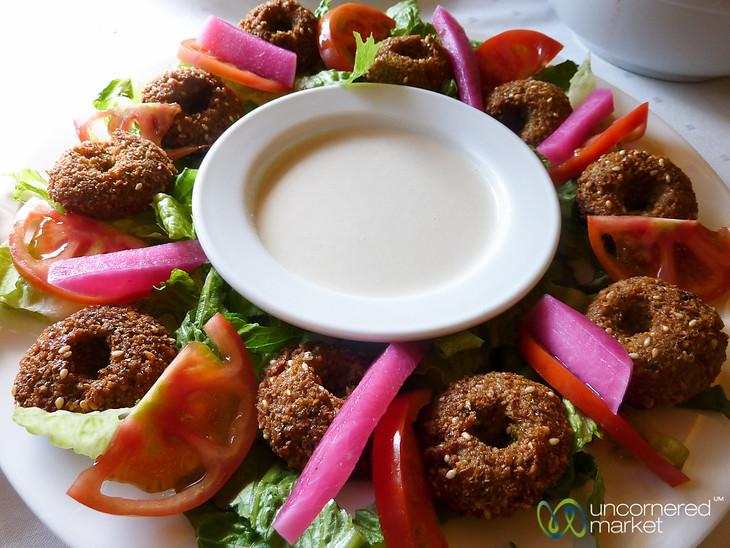 Colorful Falafel Platter - Jerash, Jordan