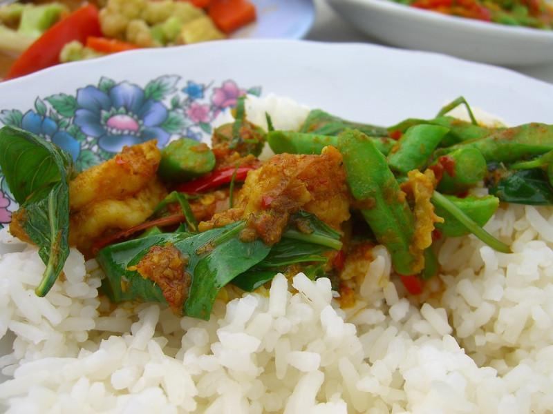 Spicy Shrimp and Long Bean Curry - Phuket, Thailand