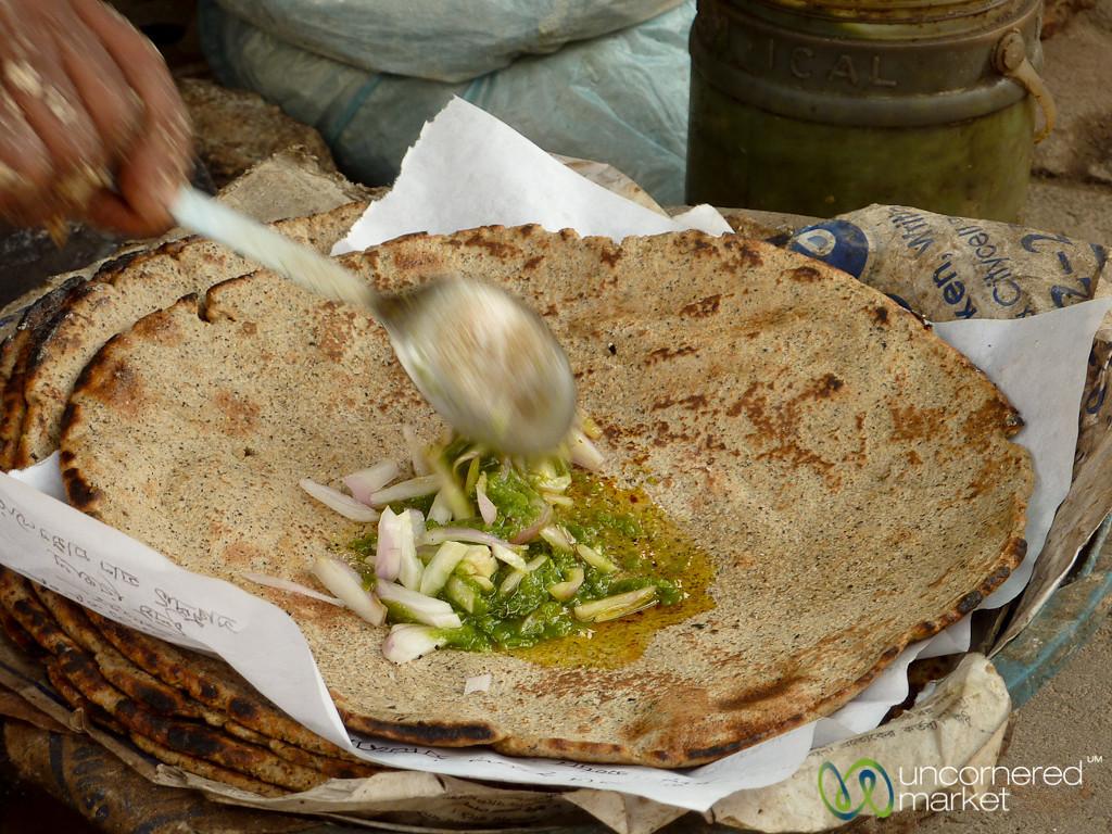 Kalai Roti with Onions and Chili Sauce - Rajshahi, Bangladesh