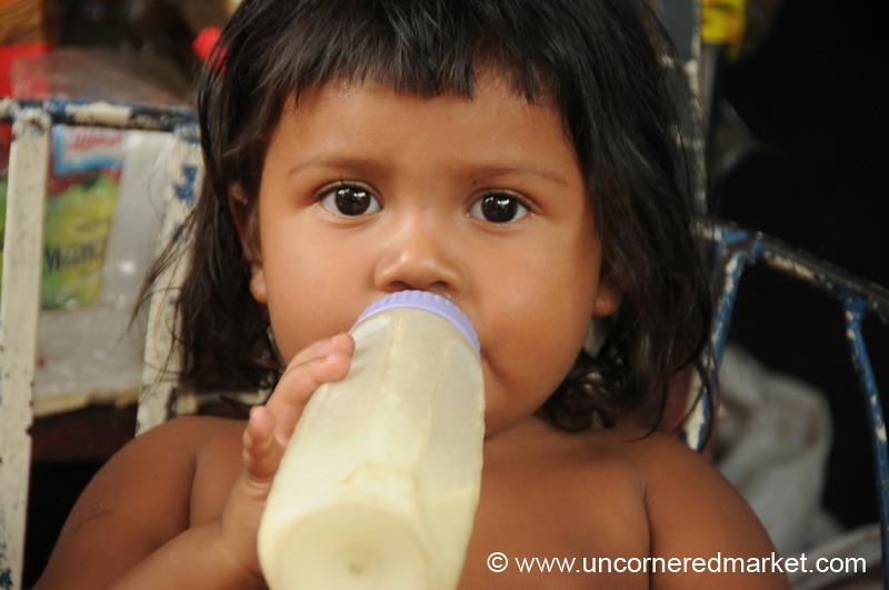 Girl and Her Bottle - Masaya, Nicaragua