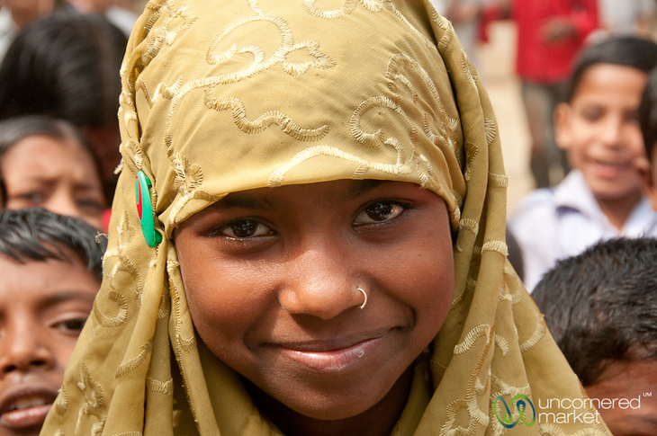 Girl Student at the School in Hatiandha, Bangladesh