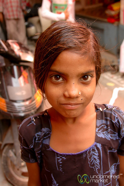 Young Girl at the Market - Bikaner, India