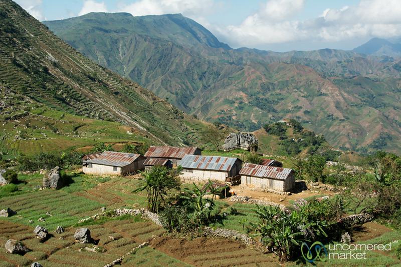 Haitian Farmhouses on the Hillside - Seguin, Haiti