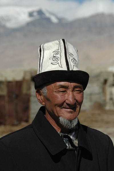 Kyrgyz Man with Kalpak - Pamir Mountains, Tajikistan