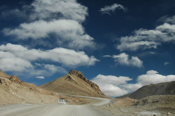 Crossing the Pass in Soviet Car - Pamir Mountains, Tajikistan