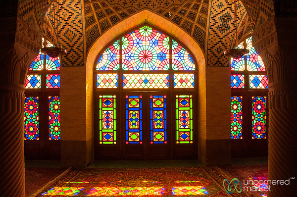 Pink Mosque Stain Glass Windows - Shiraz, Iran