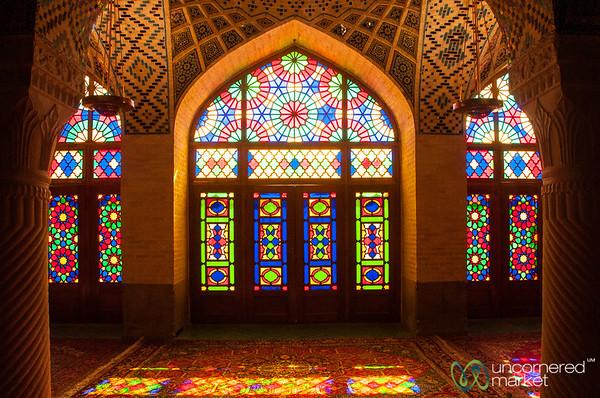 Pink Mosque Stain Glass Windows - Shiraz, Iran