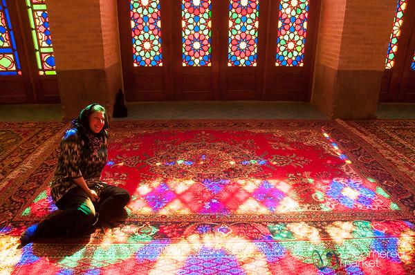 Pink Mosque Light - Shiraz, Iran
