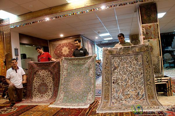 Persian Carpet Shopping in Shiraz, Iran