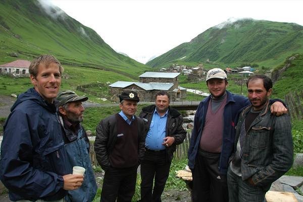 Drinking with the Police - Svaneti, Georgia