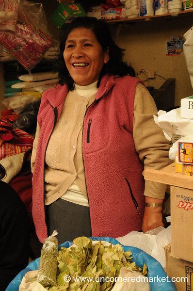 Jolly Vendor of Coca Leaves - Huancavelica, Peru