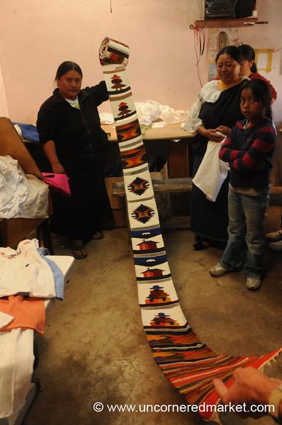 A Roll of Weavings - Otavalo, Ecuador