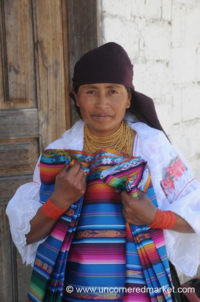 Selling Textiles - Otavalo, Ecuador