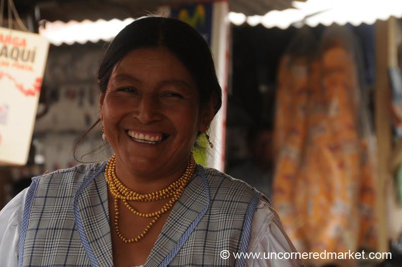 Friendly Smile at the Market - Ibarra, Ecuador